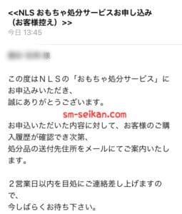 NLSアダルトグッズ処分メール